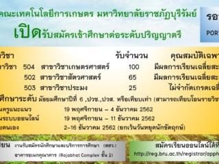 คณะเทคโนโลยีการเกษตร มหาวิทยาลัยราชภัฏบุรีรัมย์
